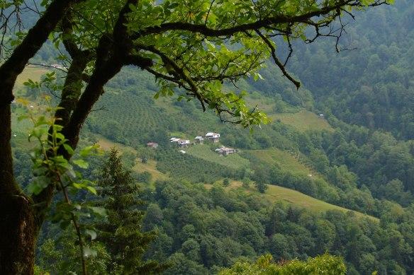 Looking down on village in Macahel